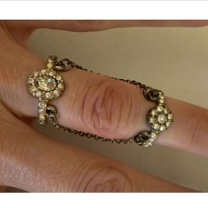 Vintage Double Ring with Chains see details